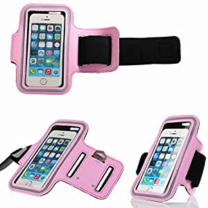 iPhone 6 Case Cover , Bosam Adjustable Gym & Outdoor Sports Armband Touch Screen Cell Phone Protective Skin Soft Band Strap Light-Rainproof Bag for Apple iPhone 6 (4.7) iPhone 5 5S (Pink)
