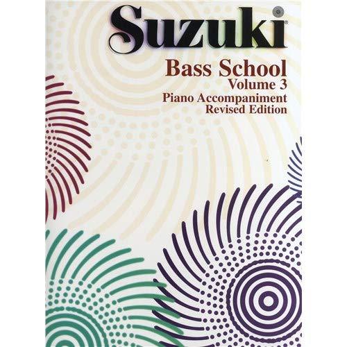 Suzuki Bass School Volume 3–Klavierbegleitung (Überarbeitete Edition). Noten für Kontrabass, Klavierbegleitung