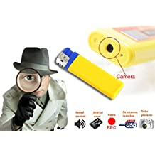 Mechero encendedor espía USB con cámara de vídeo memoria SD audio ampliable y resolución 1280 x 960 píxeles mws1337