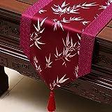 NKLHJ Tischläufer Stolz Rose Satin Tischläufer Tischfahne Tischdecke Einfache Tee Tischläufer Bett Flagge Dekoration (33 * 200 cm)