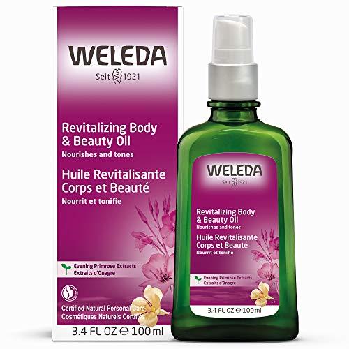 WELEDA Nachtkerze Revitalisierungs-Öl, intensives Naturkosmetik Pflegeöl zur Regeneration und Nährung von trockener Haut, Körperöl reaktiviert natürliche Hautfunktionen (1 x 100 ml) -