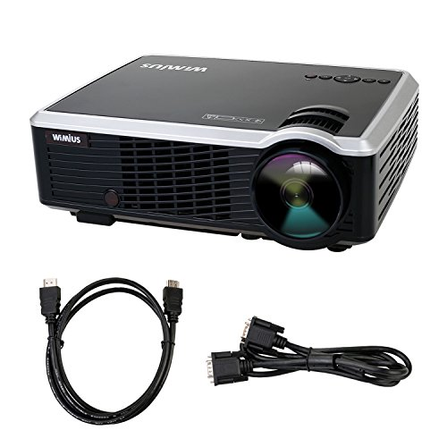 Proyector Video, Proyector Full HD 3000 Lúmenes Portátil Proyectores LED Projector LCD Home Cinema 854*540 1000:1 (con cable HMDI, Negro)
