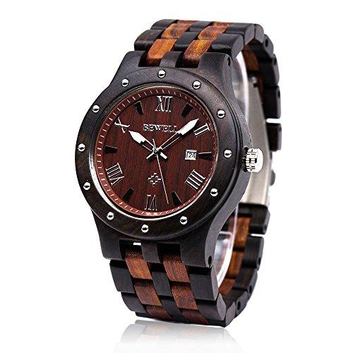 orologio di legno con quadrante rotondo in legno fascia bewell w109a analogico orologio da polso