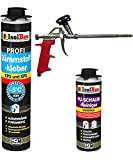 SET Dämmstoffkleber 1 Dose 750ml Klebeschaum Perimeterkleber Kleber für Dämmung + 1 Reiniger + 1 Schaumpistole