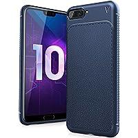 LK Funda Honor 10, carcasa [Shock-Absorción] [Anti-Arañazos] Slim Silicona TPU Goma Suave Bumper Case Cover Ultra para Huawei Honor 10 - Azul