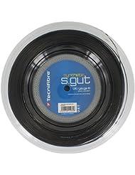 TECNIFIBRE Cordage de Tennis Synthetic GUT–Bobine de 200m–noir 1.35mm/15L