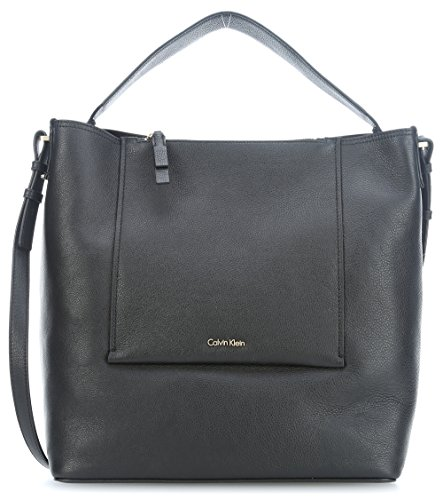 Contemporary Duffle, Womens Satchel, Schwarz (Cement/Off White), 17x23x34 cm (B x H T) Calvin Klein