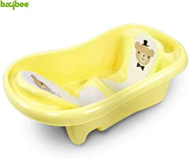 Baybee Amdia Multistage Bath tub Newborn to 18 Month - (Yellow)