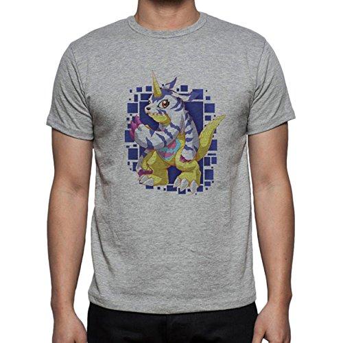 Digimon Garurumon Wolf Gabumon Spots Herren T-Shirt Grau