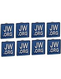 Gudeke Jw.org épinglette 8 épinglettes Bleu Carré
