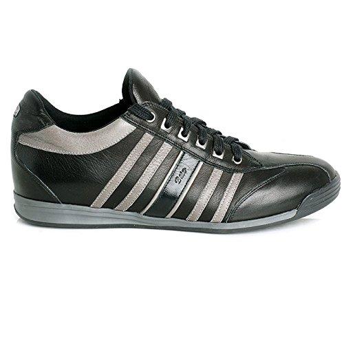 Batz BOSTON Chaussures Sneakers en Cuir de Qualité Supérieure Homme Noir
