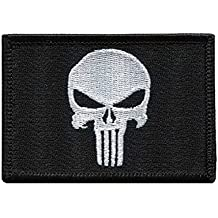 Punisher Skull Black Tactical Military Morale Patch Iron On Écusson Brodé Thermocollant Patch Par Titan One Europe