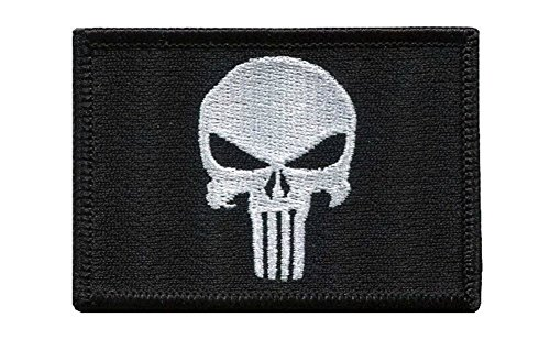 Titan One Europe Punisher Skull Black Tactical Military Morale Patch Iron On Castigador Parche Bordado Termo-Adhesivo