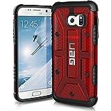 Urban Armor Gear Schutzhülle nach US-Militärstandard für Samsung Galaxy S7 - transparent (rot) [Verstärkte Ecken | Sturzfest | Antistatisch | Vergrößerte Tasten] - GLXS7-MGM