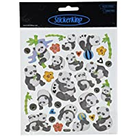Tattoo King Multicolored Stickers-Pandas