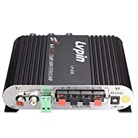 Festnight Stereo Amplifier Mini Hifi Receiver Audio Stereo Power Amplifier Subwoofer Mp3 Car Radio Channels Household Super Bass Lvpin 838