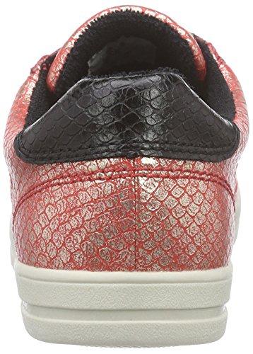 Esprit Mega Lace Up, Baskets Basses femme Rouge - Rot (825 red orange)