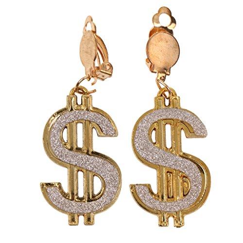 D DOLITY Mode Dollar Ohrring, Damen