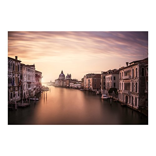 Bilderwelten Carta da parati - Serata a Venezia - Carta da Parati Formato orizzontale Fotomurali tessuto non tessuto Fotomurale tappezzeria 3D murale design moderna, Dimensione: 255cm x 384cm