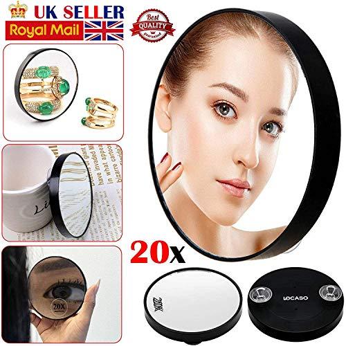 ARAZO - 20 aumentos de espejo de maquillaje profesional de bolsillo para cejas