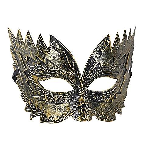 Eizur Retro Maskerade Maske Nachahmung Metall Römisch Gladiator Halbe Gesichtsmaske für Halloween Party Karneval Kostüm Cosplay Requisiten Fasching Party Verrücktes Kleid (Griechischen Frau Kostüm)