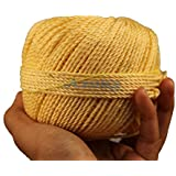 AZUKA® Nylon Twine Rope Balls 2mm X 100 yard for Utility Rope | Clothline | cloth drying rope -GOLDEN YELLOW (PACK OF 4)
