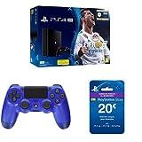 PlayStation 4 Pro (PS4) - Consola de 1 TB + FIFA 18 + Sony - Dualshock 4 V2 Mando Inalámbrico, Color Wave Blue (PS4) + Sony - Tarjeta Prepago 20€ (PlayStation)