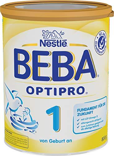 Nestlé BEBA OPTIPRO 1 Anfangsmilch, altersgerecht sättigende Baby-Milch, Milchpulver, für Säuglinge, von Geburt an, 1er Pack (1 x 800 g)