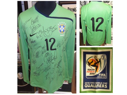 Heurelho-Gomes-Match-Issued-Brazil-Shirt-Genuine-Hand-SIGNED-Autographs-AFTAL-UACC-RD
