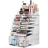 Readaeer Organizador de Maquillaje con 12 Niveles Ajustables, Caja de Almacenamiento Multi-funcional (transparente)
