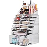 Readaeer Make up Organizer mit 12 verstellbare Ebenen, Multifunktionale Aufbewahrungsbox (Transparent)