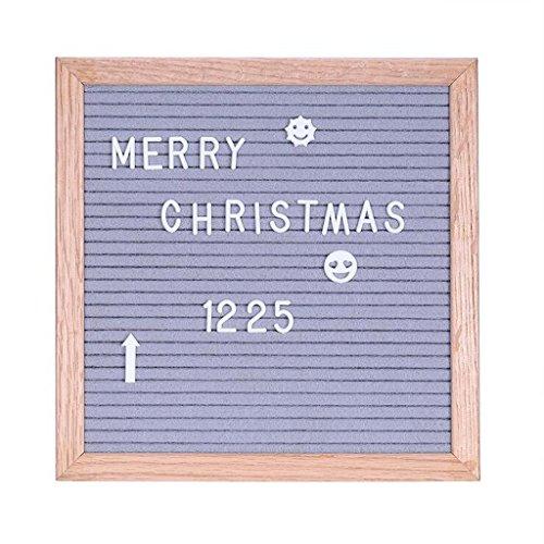 Buchstaben Mit Menü-board (Homyl Letter Board Filz Buchstabe Board Tafel Buchstabenbrett Rillentafel mit Aufbewahrungstasche Seil für Hochzeit Party Dekoration - grau)