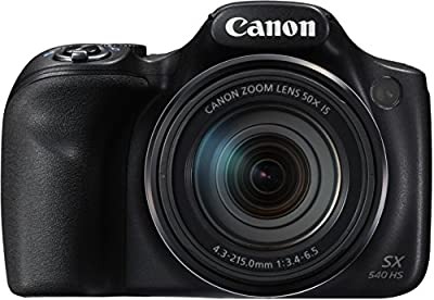 Canon PowerShot SX540HS Bridge-Digitalkamera, 20,3Megapixel, Schwarz/Anthrazit