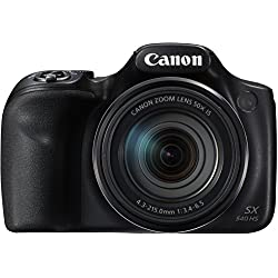 "Canon PowerShot SX540 HS - Cámara Digital de 20.3 MP (Pantalla de 3"", Zoom óptico de 50x, NFC, WiFi), Negro"