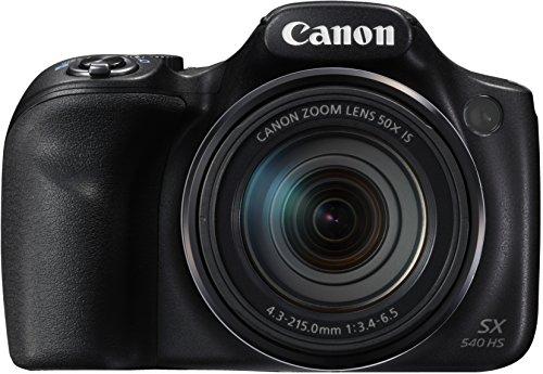 dslr mit wlan Canon PowerShot SX540 HS Digitalkamera (20,3 Megapixel CMOS-Sensor, 50-fach Ultrazoom, 100-fach ZoomPlus, WiFi, Full HD) schwarz