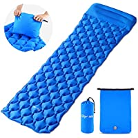 Glymnis Sleeping Mat Camping Mat with Pillow Inflatable Sleeping Pad Ultralight and Compact Camping Mattress for Backpacking Hiking Tent