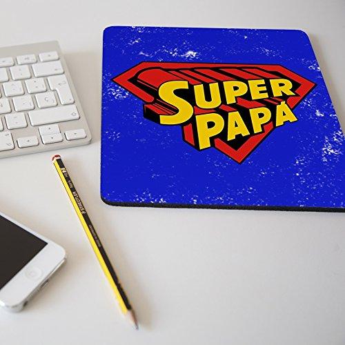 """Alfombrilla para ratón regalo original día del padre """"Super papá"""""""