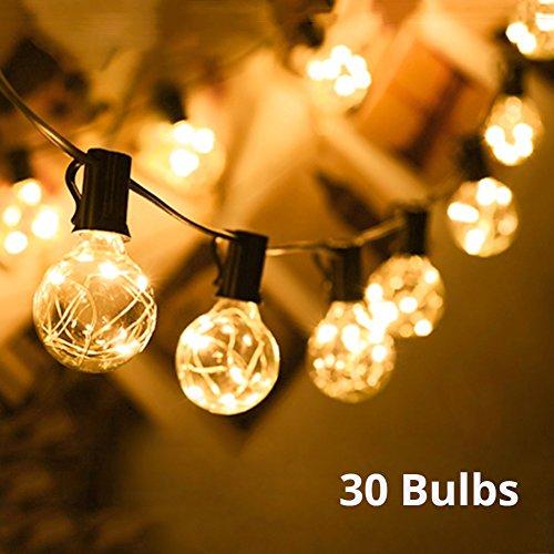 Lichterkette außen G40 Warmweiß Globus Schnur Licht Party Lichterkette 30 Bulbs 10M Deko Lampe...
