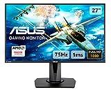 Asus VG275Q 68,58 cm (27 Zoll Full HD) Monitor (HDMI, 1ms Reaktionszeit, FreeSync, DisplayPort) schwarz