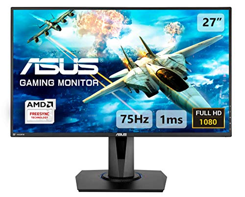 ASUS VG275Q 68,58 cm (27 Zoll) Gaming Monitor (Full HD, 1ms Reaktionszeit, FreeSync, HDMI, DisplayPort) schwarz