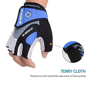 Inbike 5mm Gel Padded Half Finger Cycling Gloves Bike Bicycle Gloves For Biking(blue,m) 5