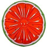 Schwimmendes Inselfrucht-Zitronenorange Der Runden Wassermelone Des Großen Aufblasbaren Wassers Orange Doppeltes Sich Hin- Und Herbewegendes Bett