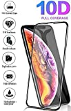 Galaxy-Ambra - Protector de Pantalla de Cristal Templado 10D Compatible con Apple iPhone X/XS, dureza 9H, Cristal inastillable