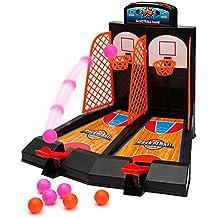 Tabletop Mini Basket ripresa del gioco 2 giocatori Shootout canestri di gioco con dispositivo di punteggio per i bambini di Wishtime