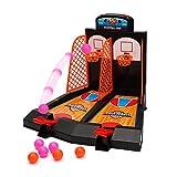 Wishtime Tabletop Mini Basket ripresa del gioco 2 giocatori Shootout canestri di gioco con dispositivo di punteggio per i bambini