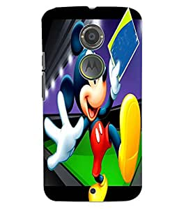 ColourCraft Lovely Cartoon Character Design Back Case Cover for MOTOROLA MOTO X2