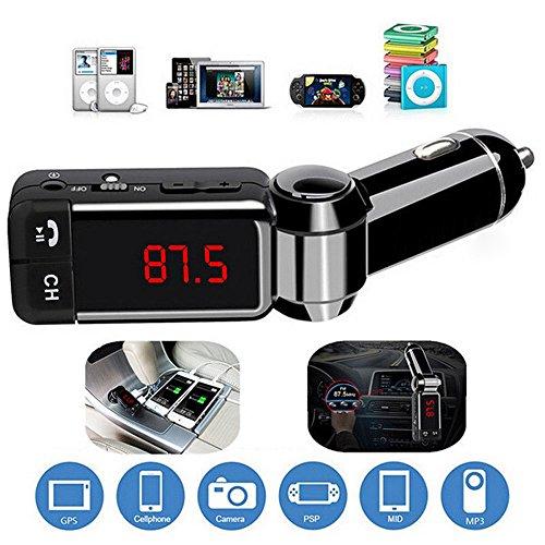 Gaddrt Dual USB Auto Ladegerät Bluetooth-Musikempfänger 3,5-mm-Adapter Freisprecheinrichtung FM-Transmitter