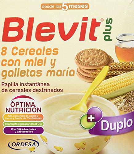 Blevit Plus Duplo 8 Cereales Miel Galletas Maria -