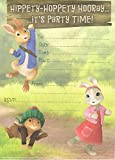 Peter rabbit and friends (pack of 10) party invitations