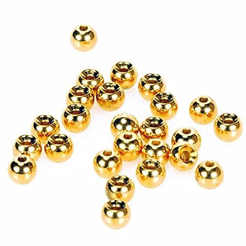 Taimen Fly Tying Brass Beads Gold (25) 2.0 mm